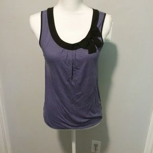 Loft size small women's purple and black blouse